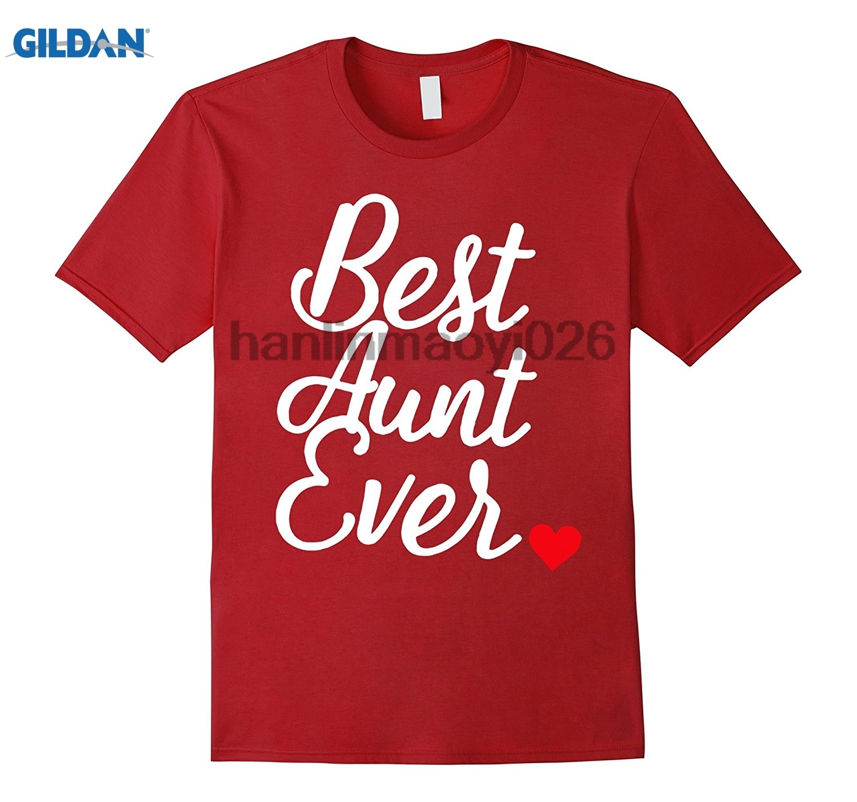 GILDAN 2017 New 100% Cotton T Shirts Best Aunt Ever Auntie Shirt Premium