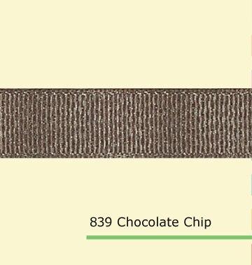 7/8 «дюйма (22 мм) оптовая серебряный блеск шоколадное корсажная лента