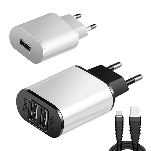 5V 2A EU Plug adapter Desktop Cell Phone Charger Portable Charger Cable For iphone Android Type-C USB Cable Efficient Charger