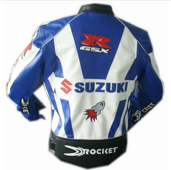 Blue Suzuki Motorcycle Jacket