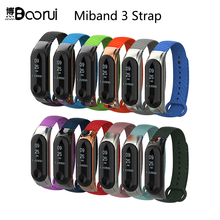 BOORUI Metal Miband 3 Strap pulsera Smart Accessories Strap miband 3 werable Colorful Ther