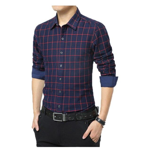 Новый 2016 осень рубашки люди подходит мужчина с длинным рукавом мужская одежда тонкий свободного покроя рубашки 5 цвета размер m-5xl56
