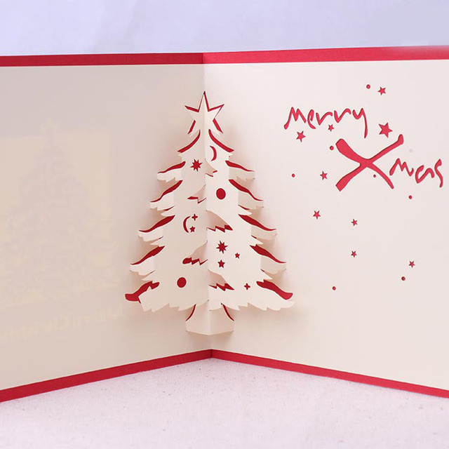 3d Christmas Cards Postcard Greeting Thank You Cards Origami 3d Post