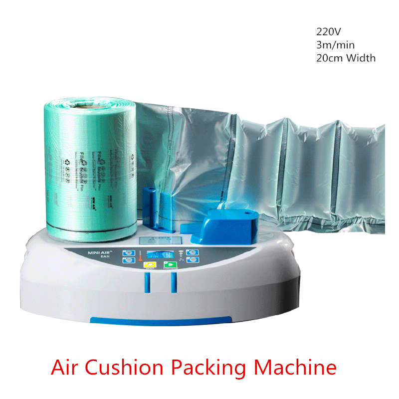 Buffer bubble bag inflator Air Cushion Machine 3m/min 20cm Width for Air Dunnage/Air Pillows/Bubble Film Wrapping Buffer Filling