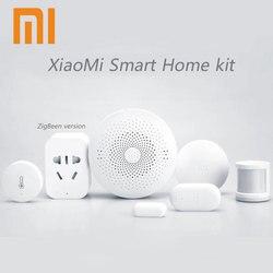 2018 Xiaomi Mijia Smart Home Kit,Gateway Door Window Human Body Sensor Temperature Humidity Sensor Wireless Switch Zigbee Socket