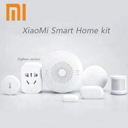2019 Xiaomi Mijia Smart Home Kit,Gateway Door Window Human Body Sensor Temperature Humidity Sensor Wireless Switch Zigbee Socket