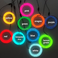 Creative Holiday Lights 1Meter 10 Colors Led Neon Rope Cable DC3V 3.2mm Luminous EL Wire Diy Fluorescent Cartoon Animal Design