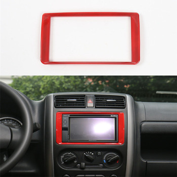 For Suzuki Jimny 2007-2015 ABS Interior Car Radio Stereo Fascia Panel GPS Navigation Refitting Frame Cover Trim Sticker Styling image