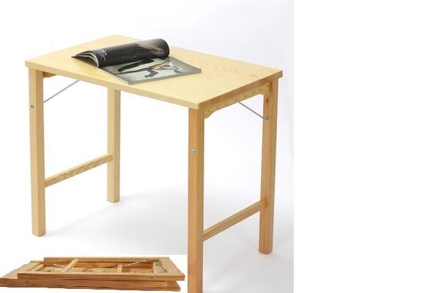 Simple mesa plegable de madera simple escritorio mesa de ordenador ...