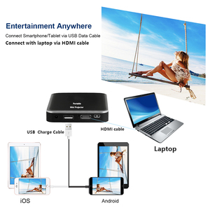 Image 4 - Smartldea DLP Mini X3 Projector build Battery 200lumens HDMI USB Pocket Smart Proyector Mobile beamer Phone wired mirror display