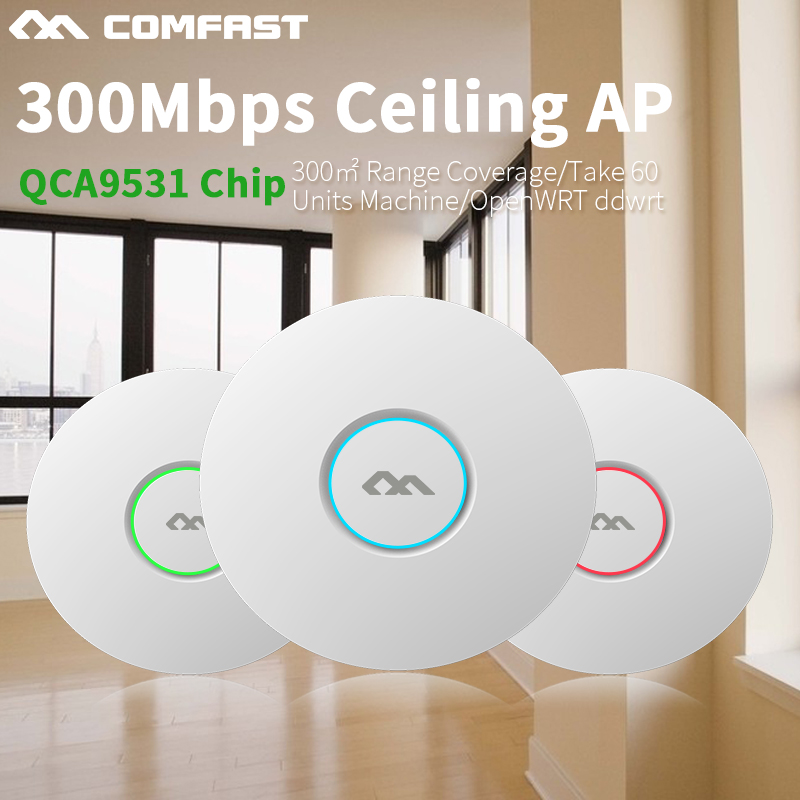 COMFAST wireless router 300Mbps openwrt ddwrt Ceiling AP wifi POE