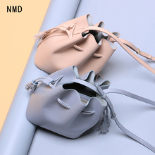 NMD Newest  big brand design bucket bag ladies split leather shoulder cross free shipping