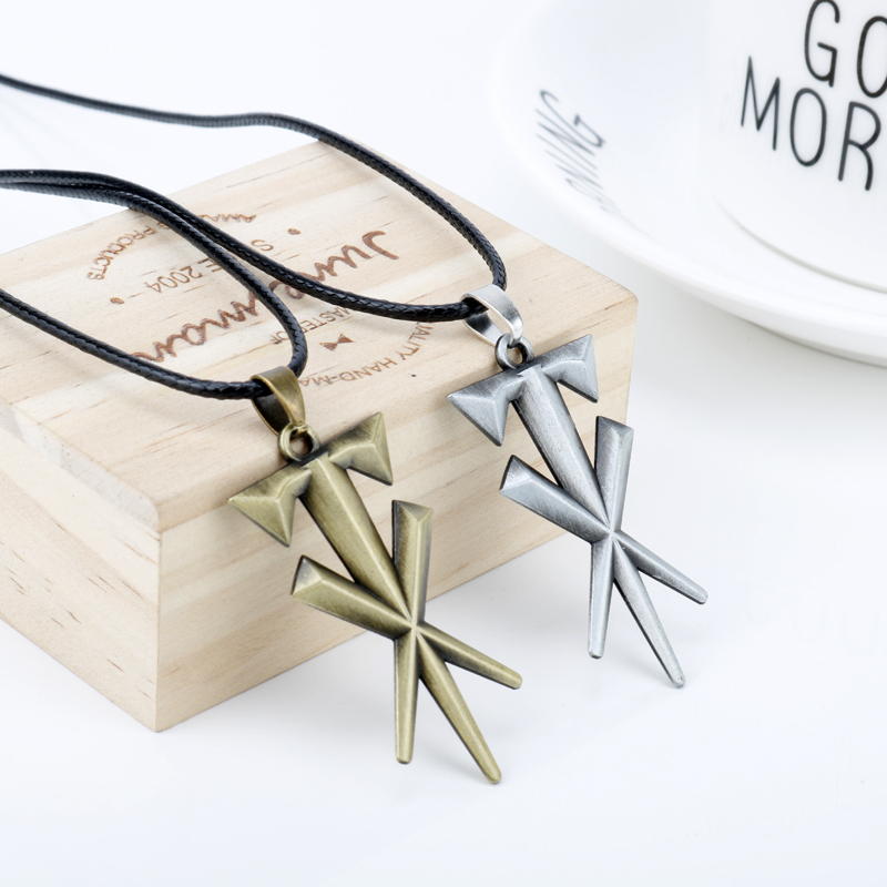 dongsheng Fashion Jewelry Geometric Cross Undertaker Pendant Necklace Leather Cord Necklace Metal Cool Accessories Gift For Men|Pendant Necklaces|Jewelry & Accessories - AliExpress