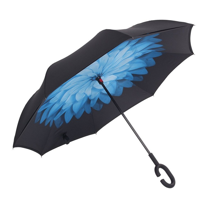 95a5aab26710 US $12.52 17% OFF|Windproof Reverse Folding Double Layer Inverted Umbrella  Self Stand rain/sun women high quality 2018 Child dropshipping-in Umbrellas  ...