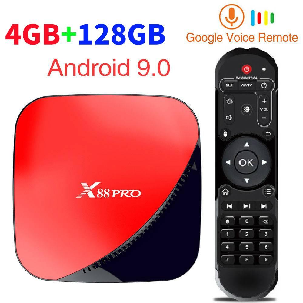 X88 pro Android 9.0 Caixa de TV Inteligente 4GB RAM 64G ROMA 128GB Rockchip RK3318 5G Wi-fi 4K HD Set Top Box Google Media Player YouTube