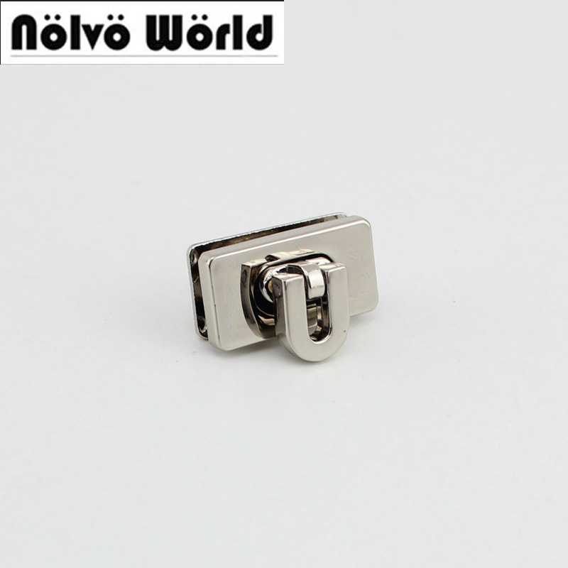 30sets/lot 25*13mm 5colors High Quality Lock Metal Functional Lock For Handbags Factory Hardware Wholesale Price 10sets