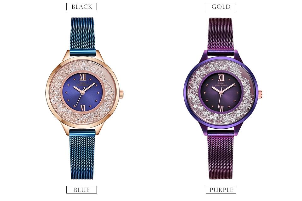 IBSO Brand Women Fashion Watch 2018 Mesh Strap Watch Female Watch 07