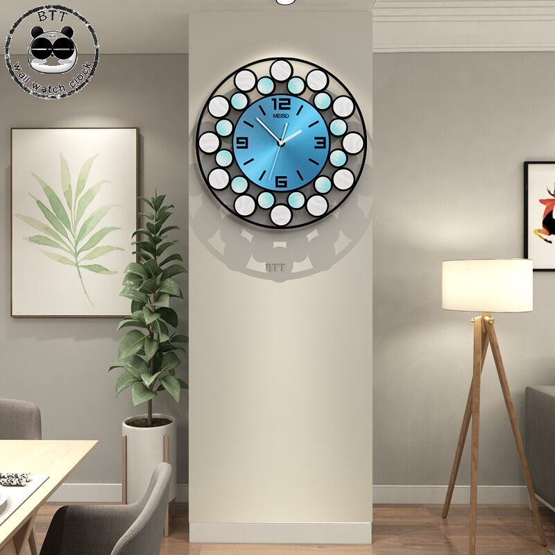 39CM Creative 3D Wall Clock Large Silent Wall Watch Home Decor Colorful Hanging Clocks|Wall Clocks|   - title=