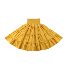 Fashion Kids Girls Bobo Long Maxi Skirts Summer Elastic Waist Skirt