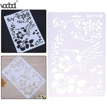 DIY Craft Bird Flower Bullet Journal Plastic Stencils for Walls Scrapbooking Painting Stamps Album Decor Embossing Paper Cards(China)