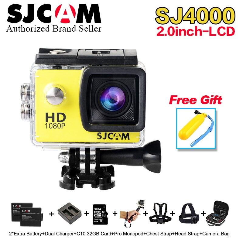 2017 Newest Original SJCAM SJ4000 2.0 LCD Screen Action Camera Upgrade SJ CAM 4000 Series 30m Waterproof Mini M10 Sport DV cam original sjcam 4000 series sj4000