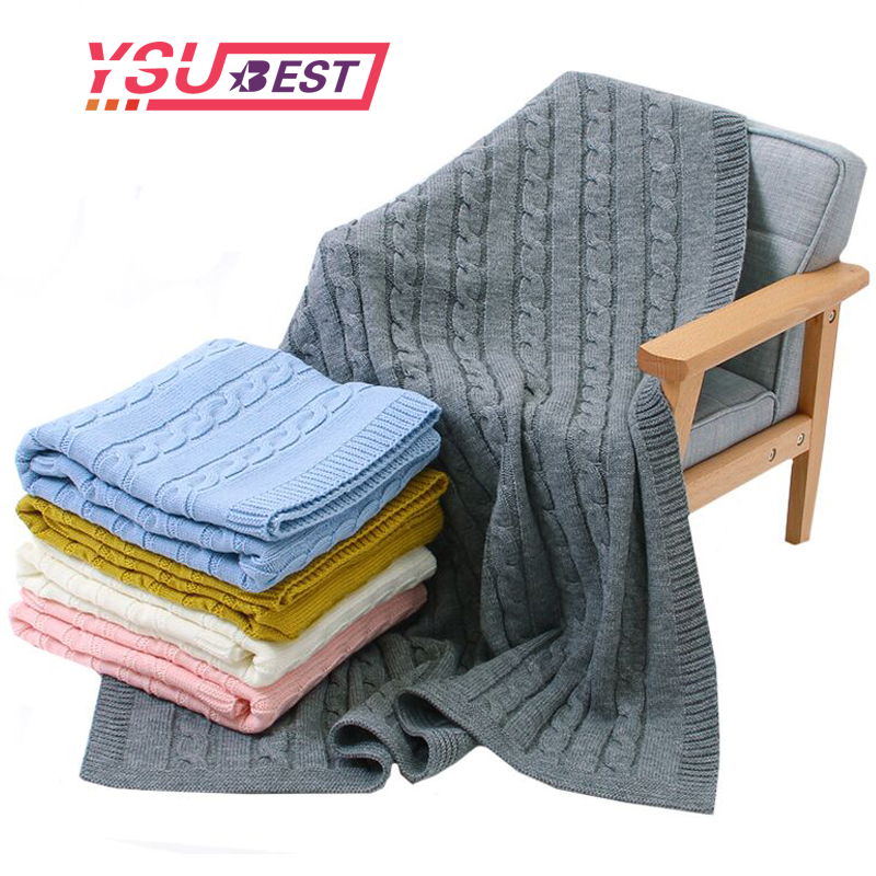 Baby Blanket Knitted Newborn Swaddle Wrap Super Soft Toddler Infant Bedding Quil