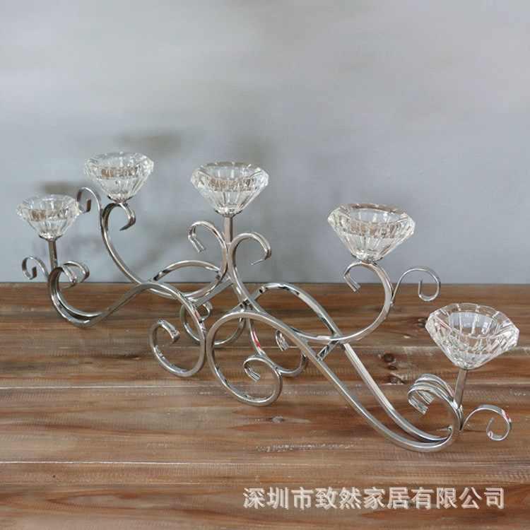 Modern Minimalist Crystal Candlesticks Restaurant Living Room Korean Tv Shooting Props Wedding Centerpieces Candlestick 3dzty17 Aliexpress