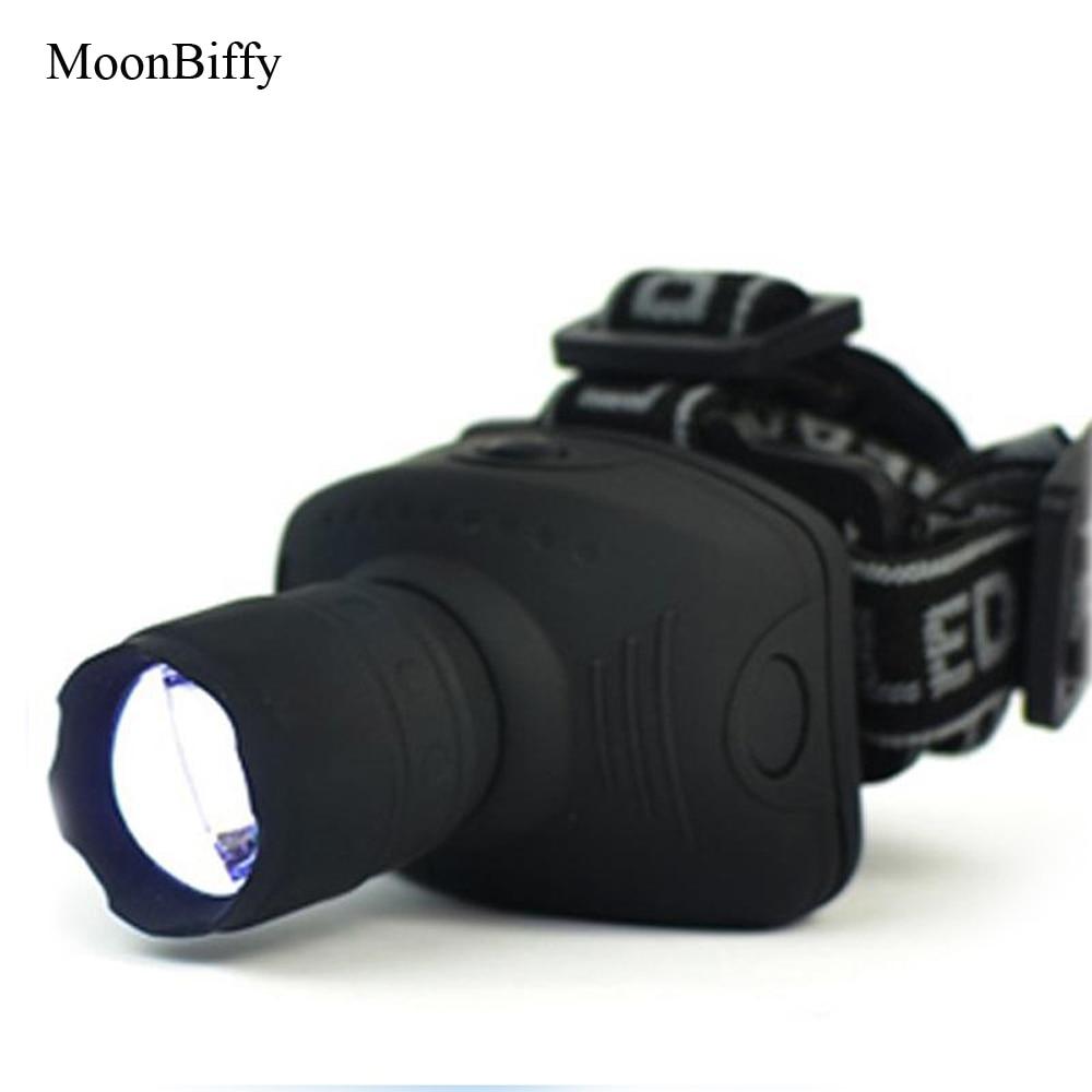 1 Stück Großhandel Dropshipping Moonbiffy 1800 Lumen Scheinwerfer Cree Led Scheinwerfer Taschenlampe Frontal Laterne Zoomable Kopf Taschenlampe Licht Attraktiv Und Langlebig