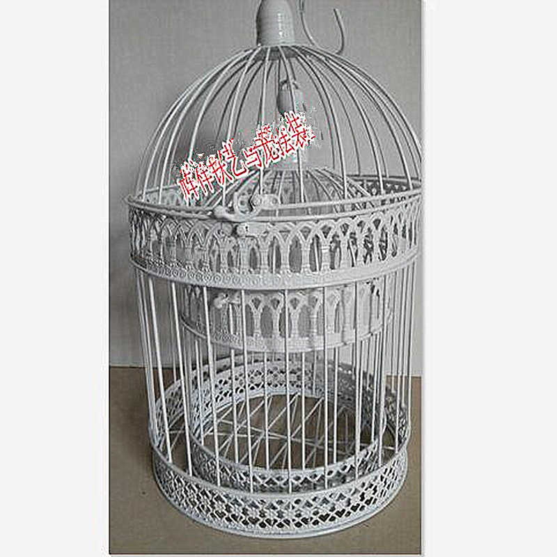 New European wrought iron decorative bird cage wedding window decoration wedding props small bird cage black white copper