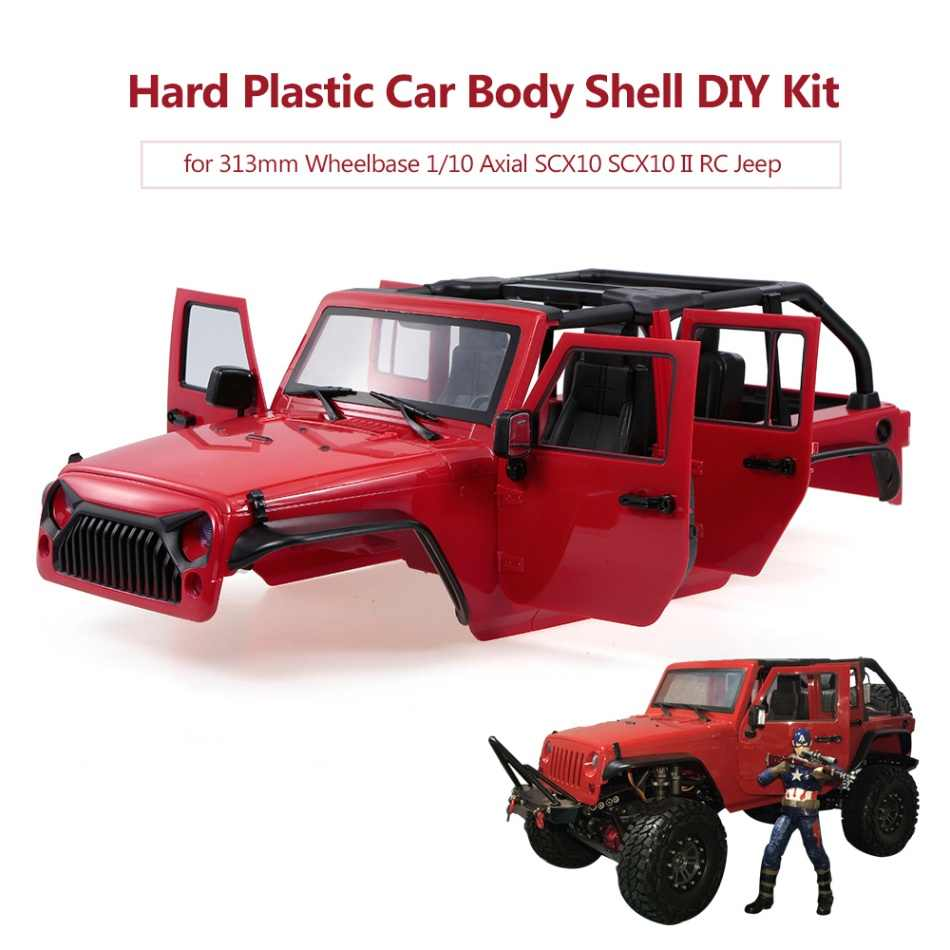 313mm Wielbasis Hard Plastic Auto Body Shell voor 1/10 Axiale SCX10 SCX10 II Chassis RC Jeep Truck Auto DIY