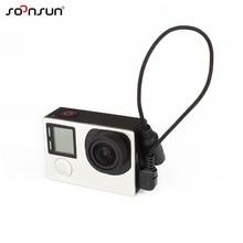SOONSUN 3.5 mét Mic Adapter Stereo Microphone Mini USB Cáp Dữ Liệu Chuyển Adapter cho GoPro Anh Hùng 4/3 +/3 mic bên ngoài Cáp