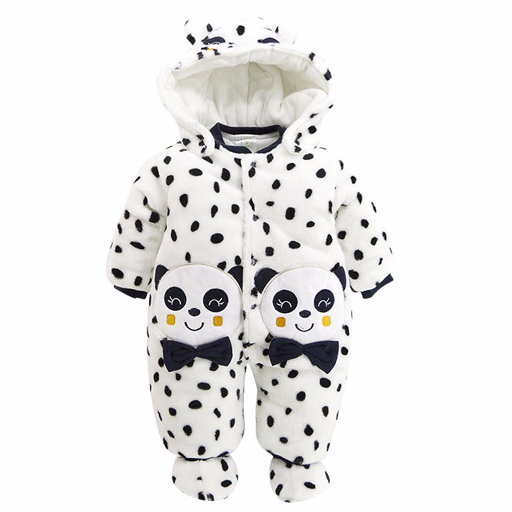 Baby Boys Girls Panda Romper Infant Winter Jumpsuit Toddler New Year Outfit Baby Clothes For Boy