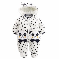 Boys Baby Dziewczyny Panda Romper Niemowląt Kombinezon Zimowy Strój Ubrania Dla Dzieci Dla Chłopca Boże Narodzenie Noworodka Maluch Nowy Rok Snowsuit
