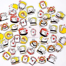 45PCS/box New Cute Sushi Diary Paper Lable Stickers Crafts And Scrapbooking Decorative Lifelog Sticker DIY Lovely Stationery