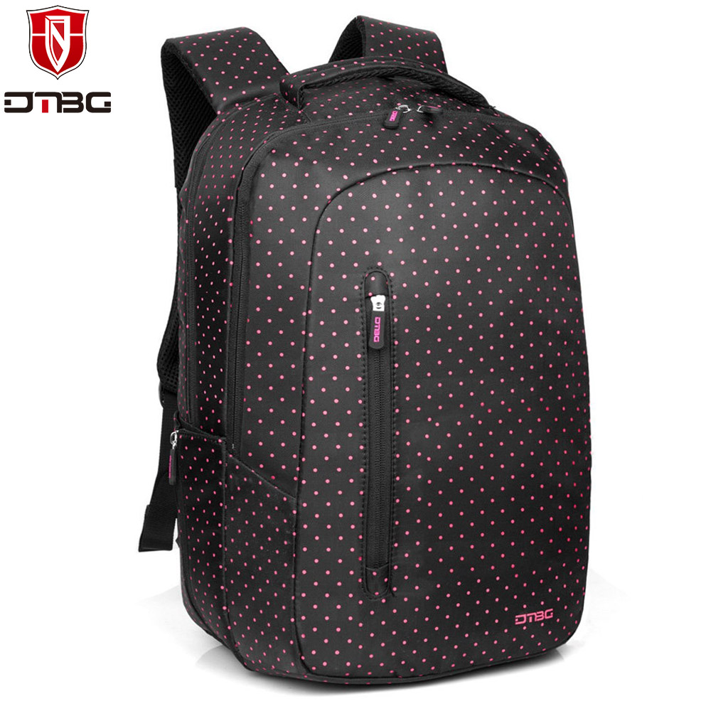 2017 DTBG Laptop Backpacks 15.6 inch Lovely School Backpack Bags for Girls Computer Bag with Pink Dot Travel School Day Pack Bag students 16 inch laptop backpack women oxford shoulder bag school computer travel backpacks preppy style bags for teenagers