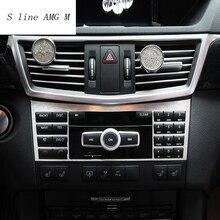 Стайлинга автомобилей центральной консоли CD Панель декоративная крышка Накладка для Mercedes Benz E class W212 2009-2015 интерьер Авто аксессуары