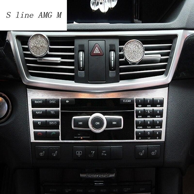 Estilo do carro Consola Central Painel CD Decoração Tampa Da Guarnição Para Mercedes Benz classe E W212 2009-2015 auto Interior acessórios