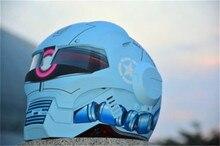 Личность мотоциклетный шлем Подлинной мужской утюг 610 человек ретро высокого класса off-road мотоцикл zagu синий