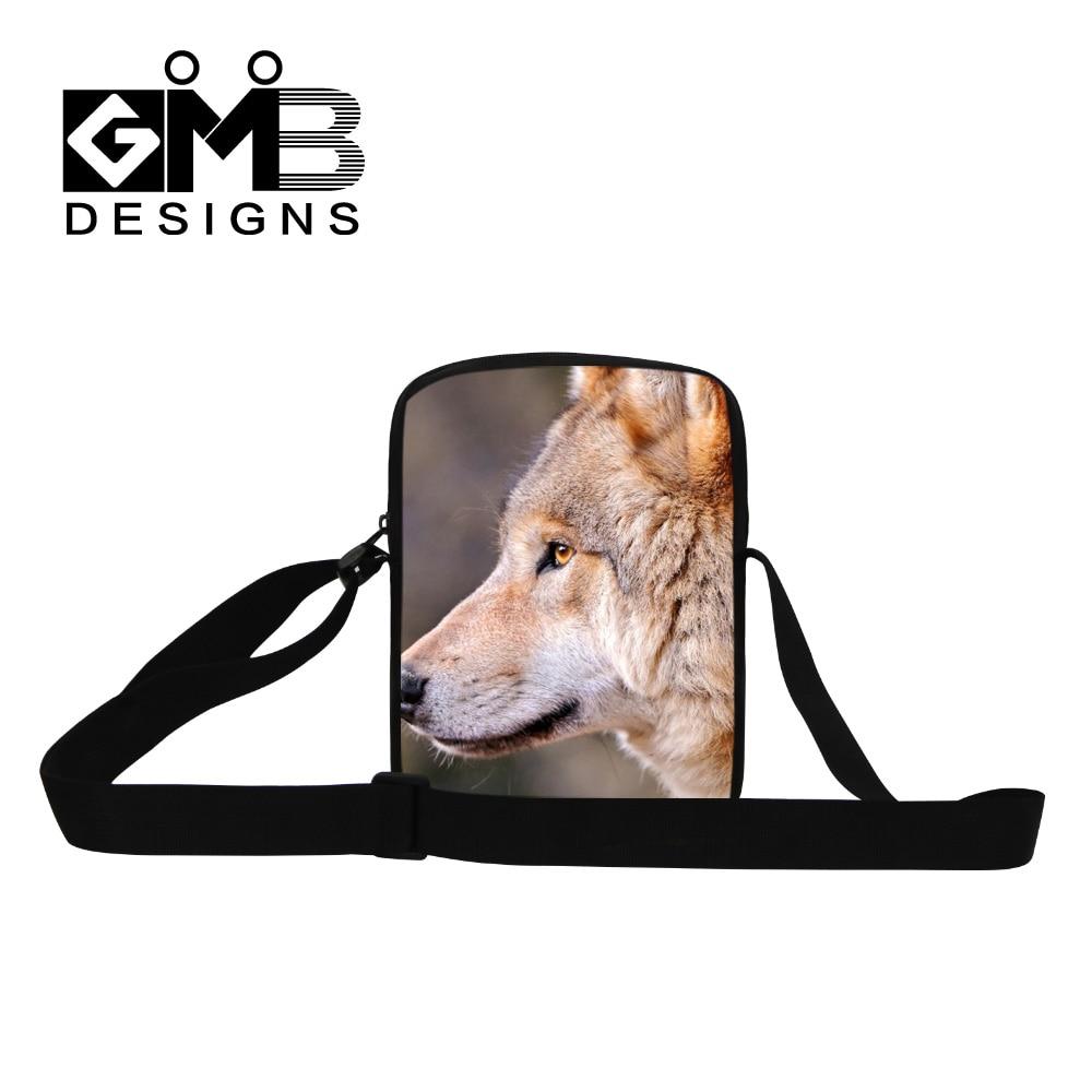 592e7f2865dd Dispalang 3D animal niños mensajero Bolsas Cool Wolf Print niños Bolso  pequeño hombre mini Bolsas de viaje bolsa feminina Mujer