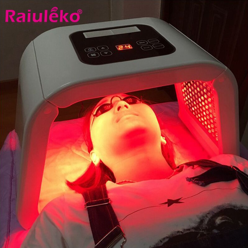 7 Colors PDF Led Light Therapy Skin Rejuvenation Device Spa Acne Remover Anti-Wrinkle Red Blue Yellow Green Led Light Treatment