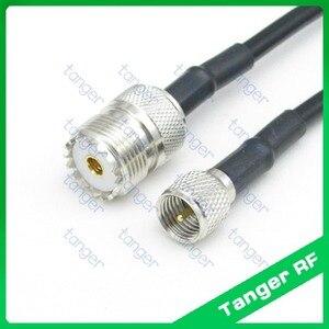 Горячая Распродажа Tanger Mini UHF штекер PL259 SL16 для UHF Женский разъем SO239 прямой RF RG58 косичка Соединительный коаксиальный кабель 3 фута 100 см