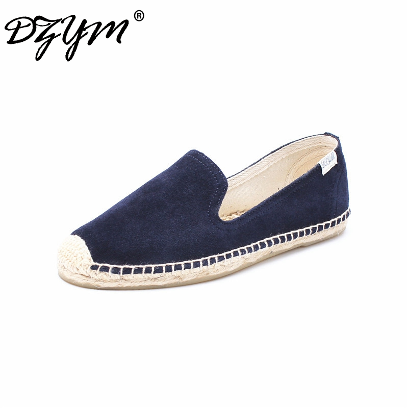 DZYM 2018 New Spring Summer Cow Suede Women Flats Leisure Loafers High Quality Shallow Sneakers Smoking Shoes Zapatos Mujer 2018 spring summer vintage embroider tiger flats shoes women pointed toe shallow loafers new fashion rivets velvet leisure shoes