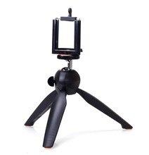 Fotoğraf YT 228 YUNTENG 228 Mini Tripod + telefon tutucu Klip Masaüstü Tripod dijital kamera telefon DV Gopro