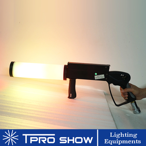 Image 2 - Mini pistolet à CO2 portatif, Machine à Cryo Co2 LED, Jet CO2 coloré pour scène de chanteur DJ avec tuyau de gaz haute pression
