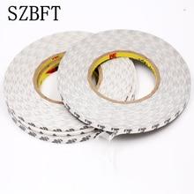 SZBFT Белый Супер тонкий и тонкий 2 мм* 50 м двусторонняя клейкая лента для мобильного телефона сенсорный экран/lcd/дисплей стекло