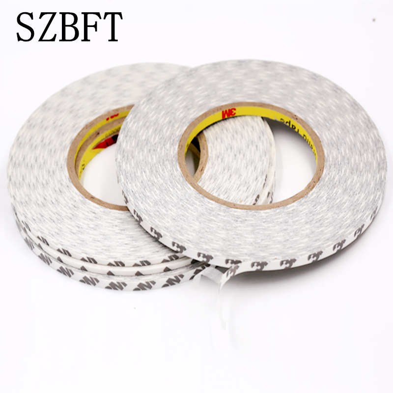 SZBFT White Super Slim & Thin 2mm *50m Double Sided Adhesive Tape for Mobile Phone Touch Screen/LCD/Display Glass