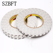 White Super Slim & Thin 2mm *50m Double Sided Adhesive Tape for Mobile Phone Touch Screen/LCD/Display Glass 57mm width 50m 3m 9448 double sided tape for tablet phone repair led lcd touch screen display housing case black