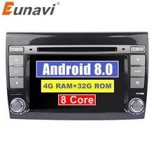 Eunavi Android 8,0 4 г оперативная память DVD плеер автомобиля 7 »автомобильное радио с GPS навигации для Fiat Bravo 2007 2008 2009 Радио Стерео Bluetooth USB