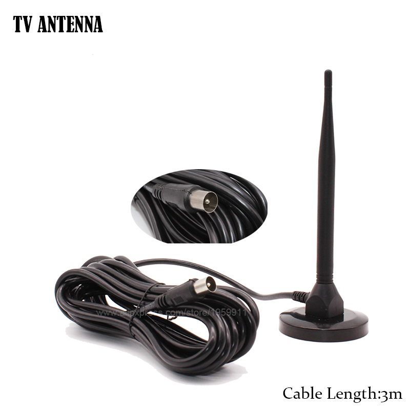 Թվային փակ անտենա HDTV DVBT2 DVBT- ի համար 3 մ մալուխով Ch.13-57 1dB UHF DTMB համար Terrestrail հեռուստացույցի ստացման համար