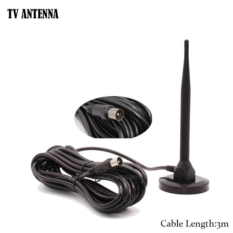 Digitale Zimmerantenne Für HDTV DVBT2 DVBT Mit 3 mt Kabel Ch.13-57 db UHF DTMB Für Terrestrail TV empfänger